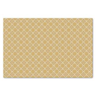 Turmeric Yellow Moroccan Lattice Pattern Tissue Paper