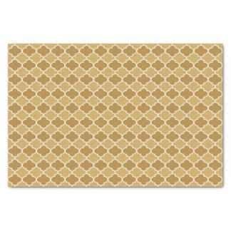 Turmeric Yellow Moroccan Quatrefoil Pattern Tissue Paper