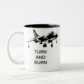TURN AND BURN Two-Tone COFFEE MUG