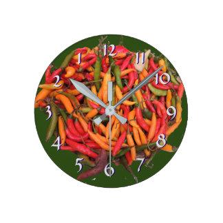 Turn Back the Time Backwards Clock-Chili Peppers Clocks
