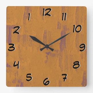 Turn Back the Time Backwards Clock - Worn Wood Loo