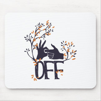 turn if off or on cute design mouse pad