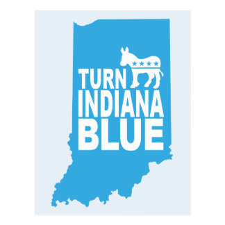 Turn Indiana Blue Postcard | Vote Democrat
