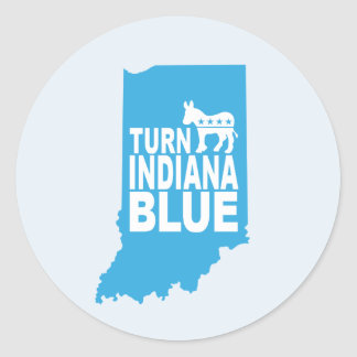 Turn Indiana Blue Sticker Sheet | Resist
