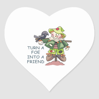 Turn Into A Friend Heart Stickers