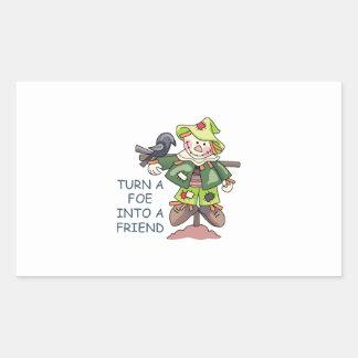 Turn Into A Friend Rectangular Stickers