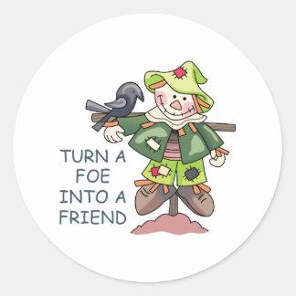 Turn Into A Friend Round Stickers