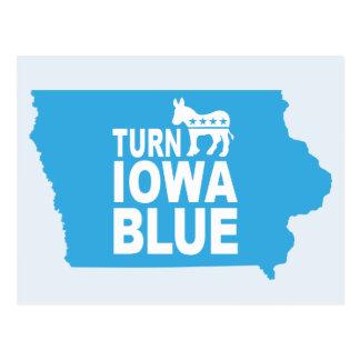 Turn Iowa Blue Postcard | Vote State Democrat