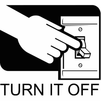 Turn It Off Light Switch Acrylic Magnet Photo Sculpture Magnet