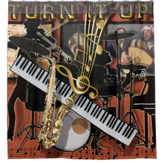 TURN IT UP SHOWER CURTAIN