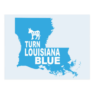 Turn Louisiana Blue Postcard | Vote State Democrat
