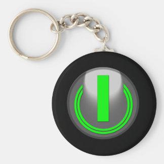 Turn Me On Basic Round Button Keychain