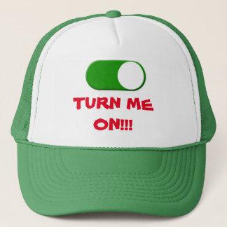 TURN ME ON TRUCKER HAT. TRUCKER HAT