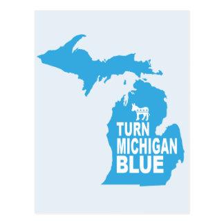 Turn Michigan Blue Postcard | Vote Democrat