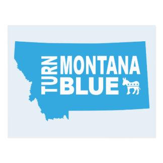 Turn Montana Blue Postcard | Vote Democrat