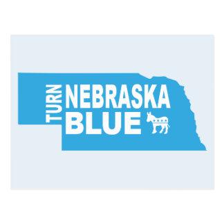 Turn Nebraska Blue Postcard | Vote Democrat