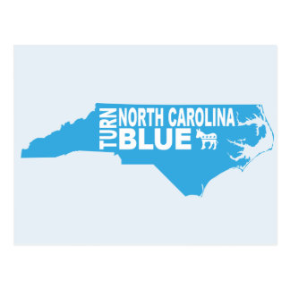 Turn North Carolina Blue Postcard | Vote Democrat