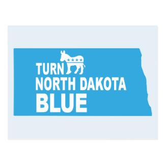 Turn North Dakota Blue Postcard | Vote Democrat