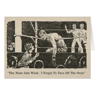 Turn Off The Oven - Boxing Greeting Card