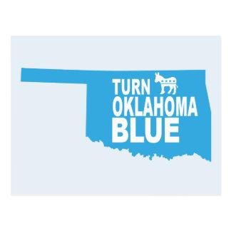 Turn Oklahoma Blue Postcard | Vote State Democrat