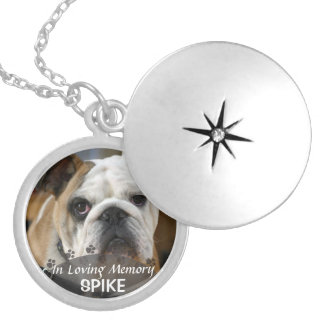 turn picture of dog into silver plated necklace