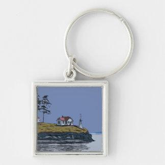 TURN POINT - Stuart Island Keychain