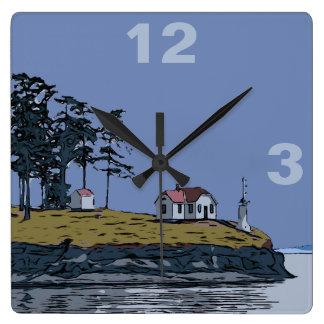 TURN POINT - Stuart Island Square Wall Clock