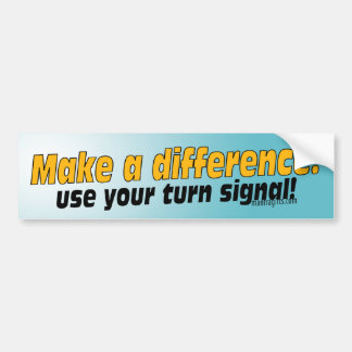 Turn Signal Bumper Sticker