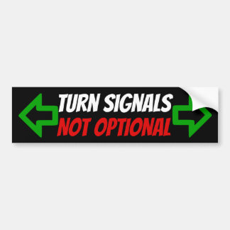 Turn Signals Not Optional sticker with arrows