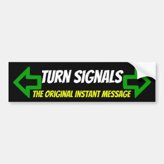 Turn Signals -The Original Instant message sticker