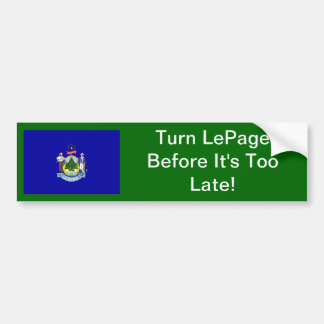 Turn The Page On LePage Bumper Sticker