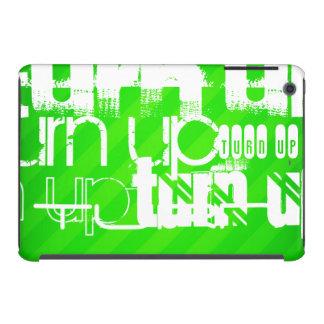 Turn Up; Neon Green Stripes iPad Mini Retina Case