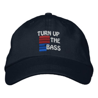 Turn Up The Bass Baseball Hat Embroidered Hat