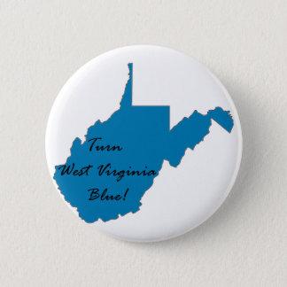 Turn West Virginia Blue! Democratic Pride 2 Inch Round Button