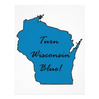 Turn Wisconsin Blue! Democratic Pride! Letterhead