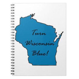 Turn Wisconsin Blue! Democratic Pride! Notebook