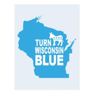 Turn Wisconsin Blue Postcard | Vote State Democrat