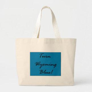 Turn Wyoming Blue Democratic State Party Pride Large Tote Bag