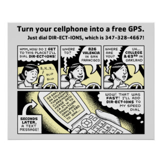Turn Your Cell Phone into a Free GPS Poster