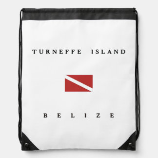 Turneffe Island Belize Scuba Dive Flag Drawstring Bag
