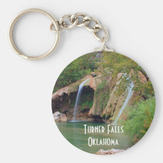 Turner Falls and Pool Basic Round Button Keychain