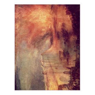 Turner, Joseph Mallord William Der Brand der House Postcard
