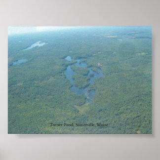 Turner Pond, Somerville Maine Poster