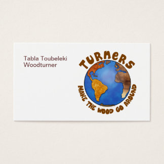 Turners Globe Funny Woodturning Earth Business Card