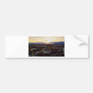 Turnin Italy Skyline Bumper Sticker