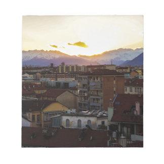 Turnin Italy Skyline Notepad