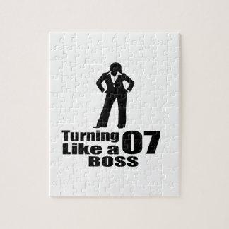 Turning 07 Like A Boss Jigsaw Puzzle