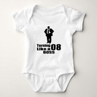 Turning 08 Like A Boss Baby Bodysuit