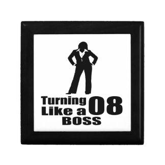 Turning 08 Like A Boss Gift Box