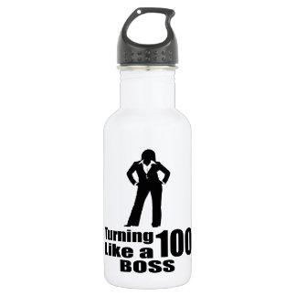 Turning 100 Like A Boss 532 Ml Water Bottle